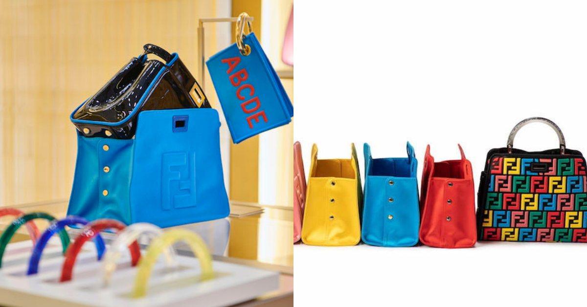 東京限定!Fendi的Peekaboo包款糖果色訂製,自己的包自己設計!