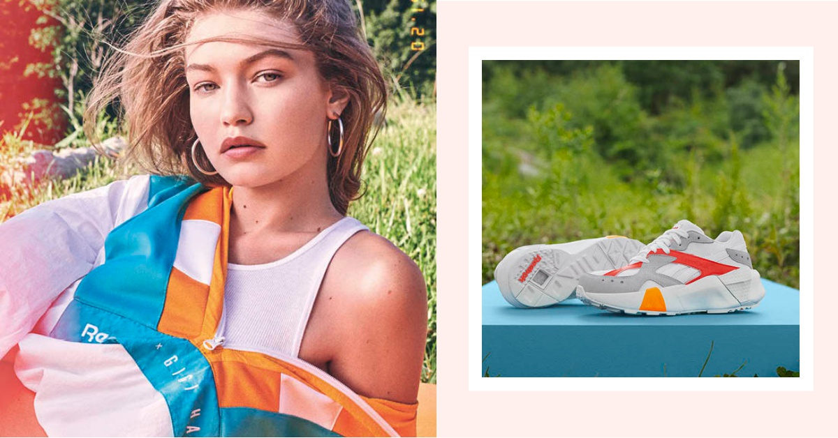 Gigi Hadid親手設計!Reebok推出辣妹運動服、復古厚底鞋