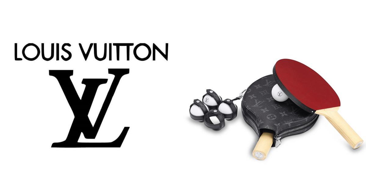 LV推出奢華乒乓球組要價7萬台幣!不只球拍有訂製皮套,連球都有啊