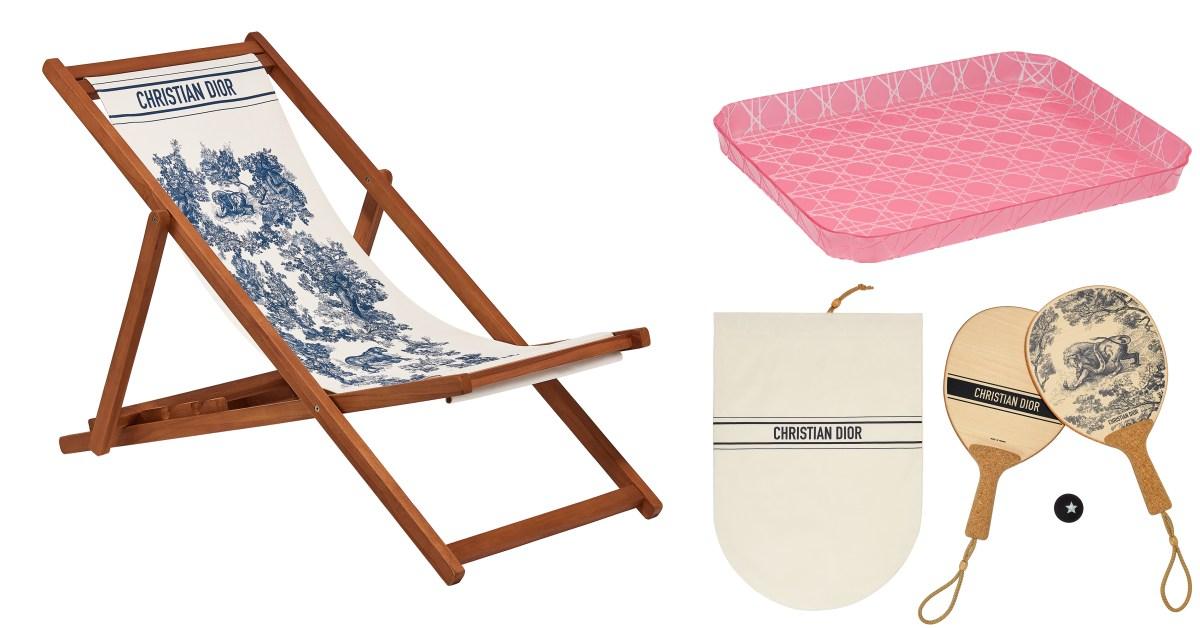 Dior Maison家飾系列推薦Top 10!躺椅、桌球拍到滑板,連Lady Dior包變身托盤太時髦