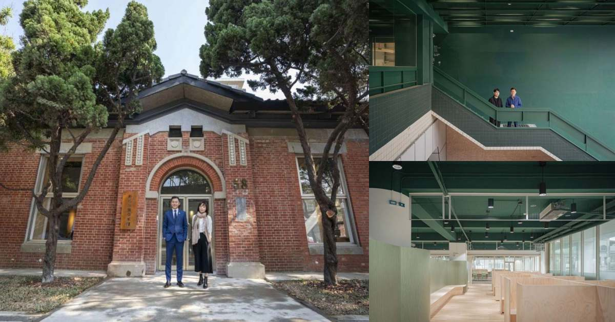 新竹圖書館「龍山分館」被森林環繞、「青少年館」70年紅磚老宅改建,躺著看書很OK!