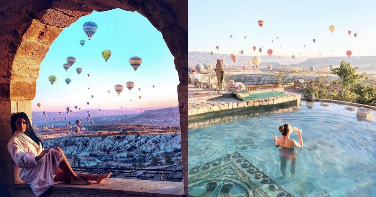 人生一定要去一次,不然白活了!在土耳其洞穴飯店《Museum Hotel》看熱氣球簡直是美夢成真
