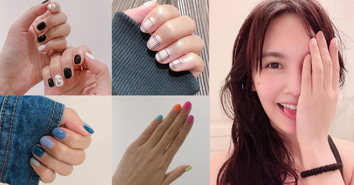楊丞琳也是指彩光療控!2019夏天用螢光、幾何、簡約一秒換裝好命手
