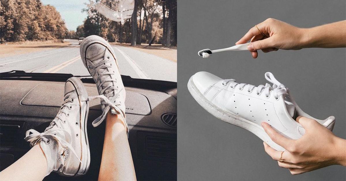 小白鞋越洗越黃?專家:洗鞋關鍵在「一張衛生紙」就能把舊鞋翻新