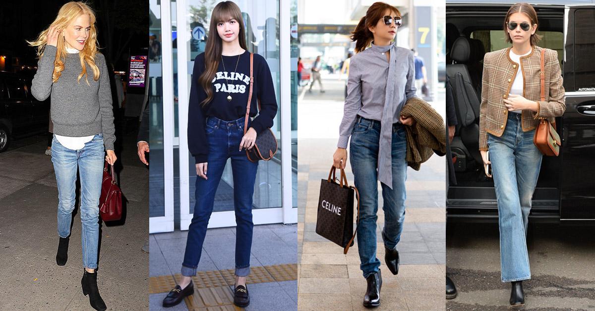 最好穿的牛仔褲在Celine!顯腿長效果讓韓團Lisa、歌手Ella、超模Kaia、影后妮可基嫚都跟著穿