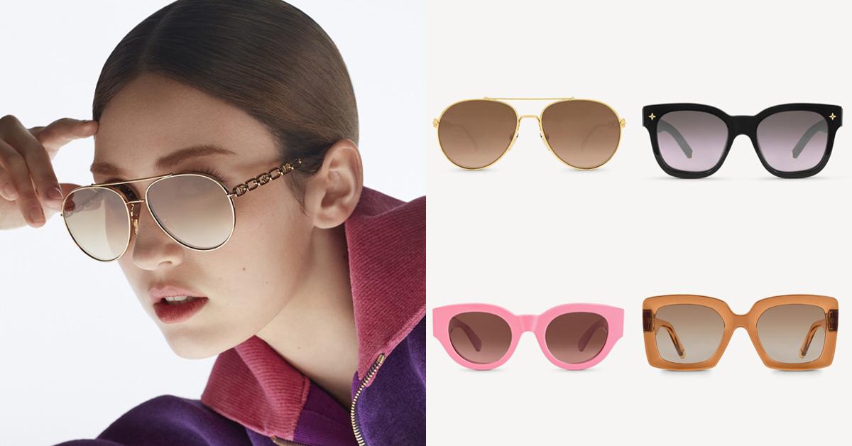 LV太陽眼鏡推薦這5款!防疫保護眼睛必備,「Dunes」復古撞色設計太搶眼
