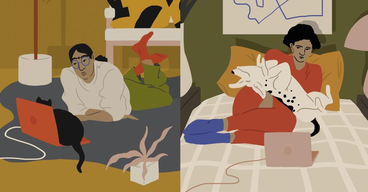 貓皇和狗帝最愛搶電視!插畫家筆下描繪毛小孩們讓奴才又愛又恨的3種行為