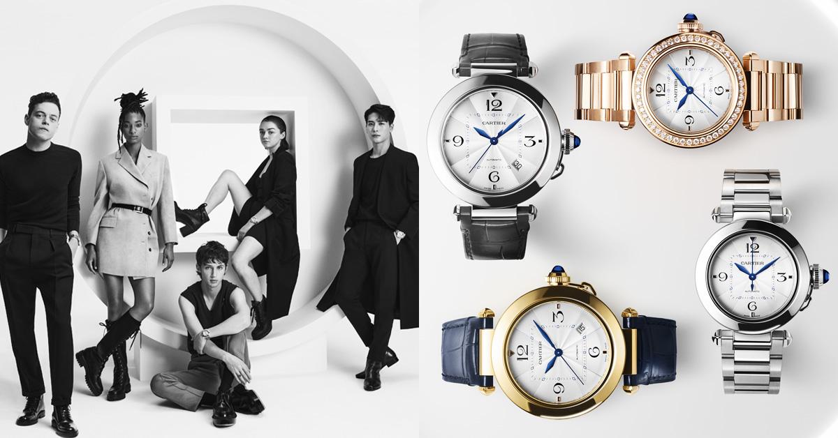 卡地亞影響力太強大!王嘉爾、奧斯卡影帝雷米馬利克、薇洛史密斯現身代言「Pasha」新錶