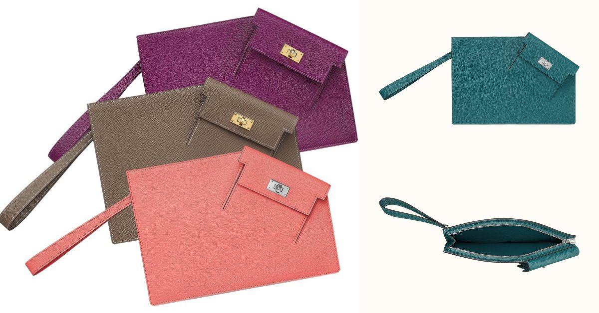 Hermès凱莉包家族新成員! 「Kelly Pocket To Go Pouch」延續系列基因,三種配色一個比一個吸睛