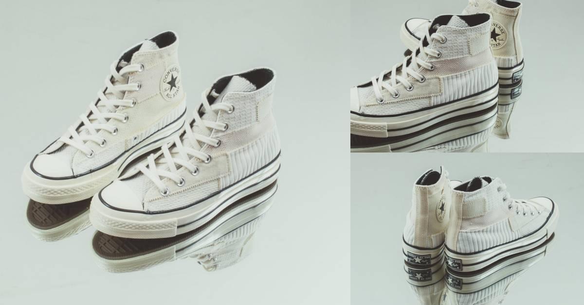 媽媽這雙不是舊鞋子啦!Converse這雙奶茶乳霜拼接小白鞋,復古條紋太好看了!