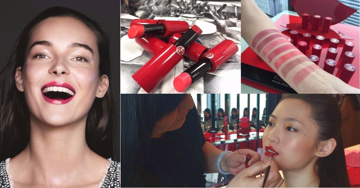 經典亞曼尼紅管身Giorgio Armani 全新奢華訂製緞光水唇膏,擁有潤澤質地與飽和色彩,2018高調上市!
