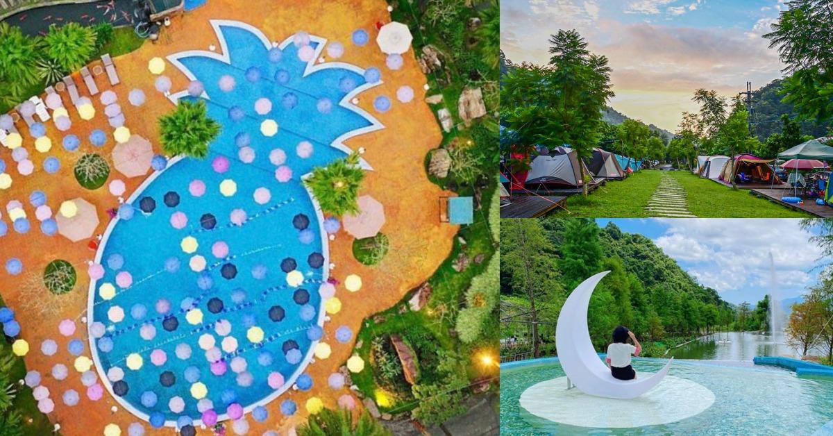 森林系網美最愛!宜蘭「鳳梨屋水上莊園」五星級營區,鳳梨泳池、水上鞦韆讓妳露營也像在度假!
