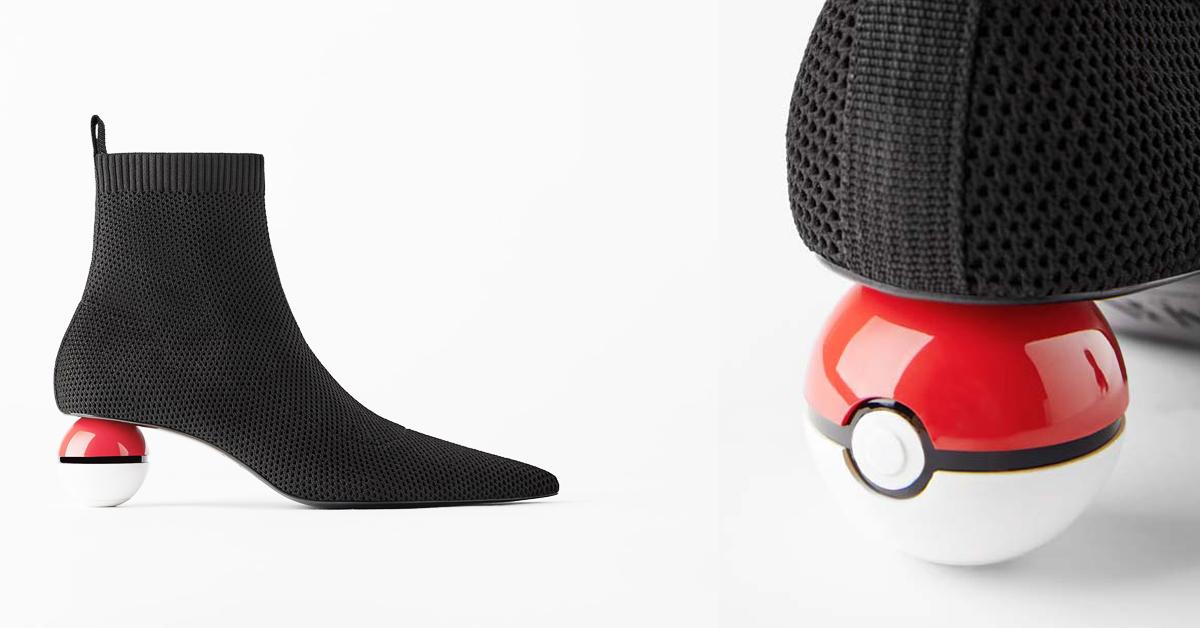 寶可夢聯名再一發!Zara「寶貝球」鞋跟短靴,粉絲準備高喊:「就決定是你了」