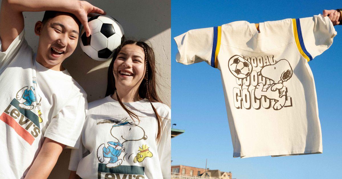 Levi's Snoopy聯名系列來搶錢啦!經典卡通漫畫秒變七夕最萌情侶裝,這漁夫帽絕對斷貨!