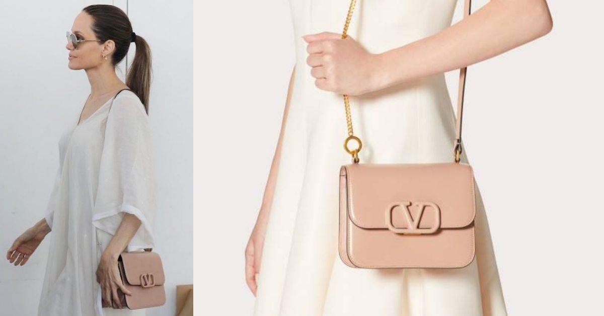 Valentino新包小S、裘莉都搶背!奶茶色鏈帶超百搭,霧感Logo質感爆棚