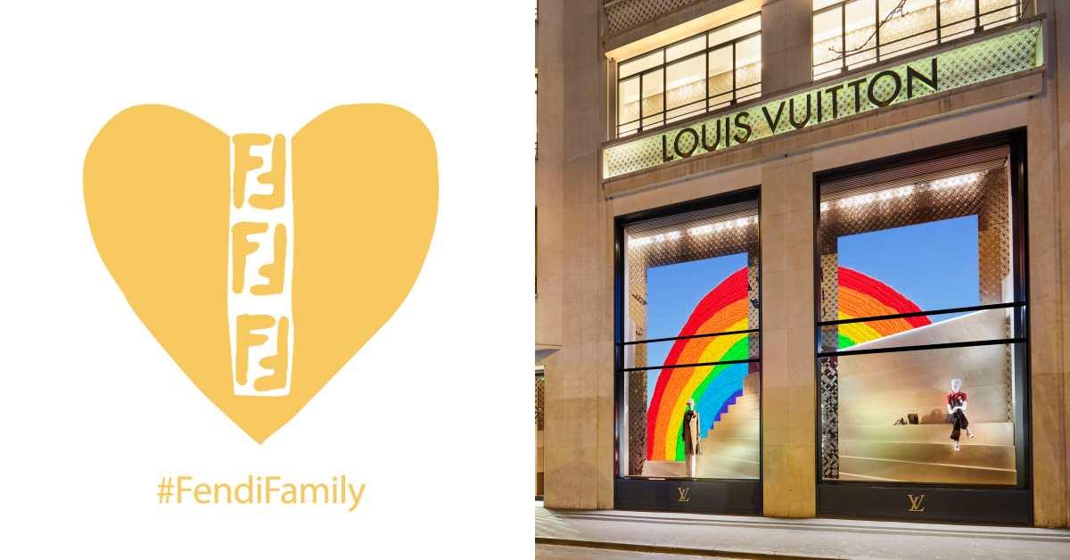 揮別疫情陰霾!Fendi、LV推出「老佛爺愛心」及彩虹櫥窗,帶領時尚品牌走出陰暗期!