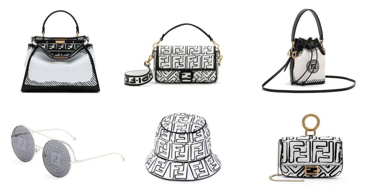 Fendi水桶包、漁夫帽、老花包到Peekaboo...經典單品全都吹起漫畫風!手繪線條會不會太可愛