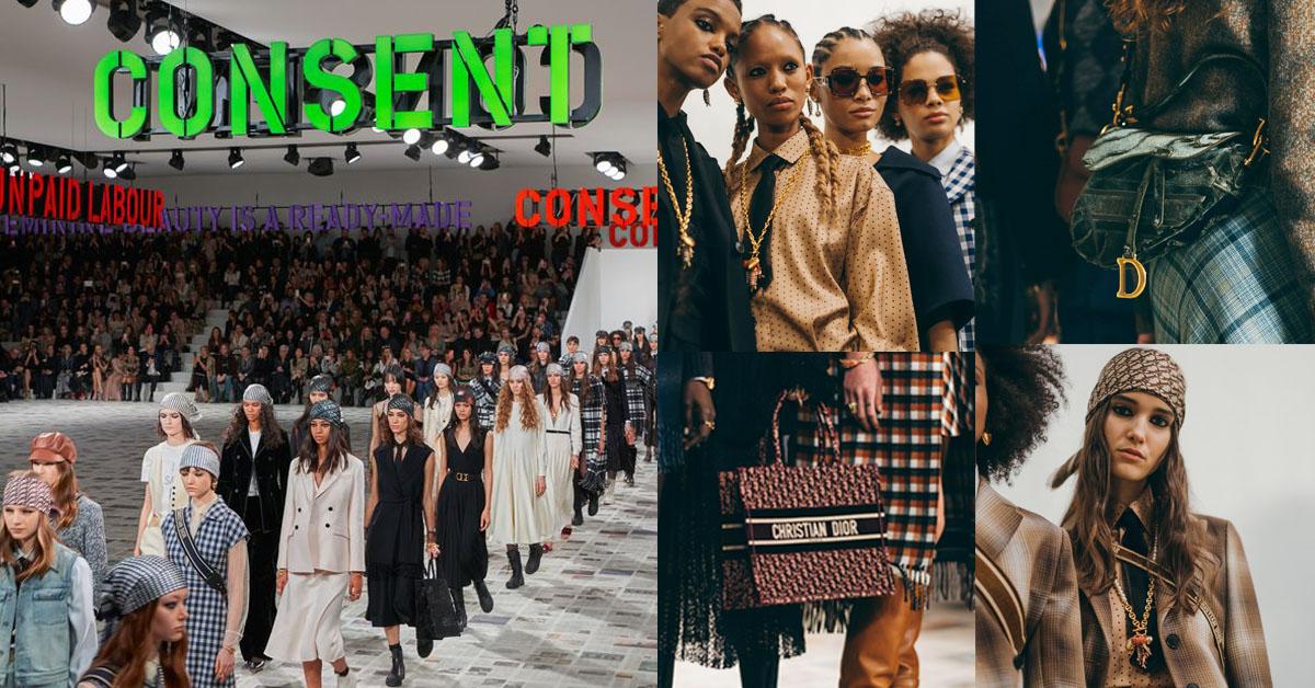 Dior女裝業績持續翻倍漲!設計師帶頭宣揚女權主義!格紋、牛仔經典變身,頭巾鐵定是下半年必殺單品