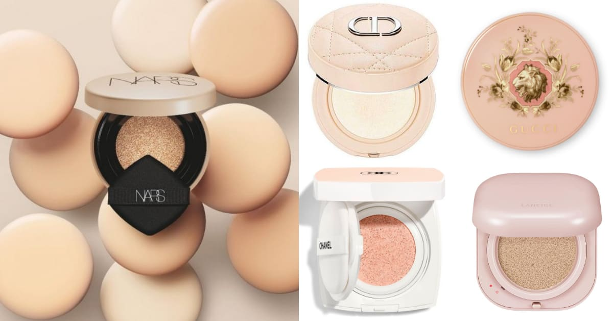 2021氣墊粉餅推薦「珊瑚粉」!Chanel、Gucci、Nars...9款粉色清單ㄧ次收藏,蘭芝馬卡龍氣墊儂編愛不釋手