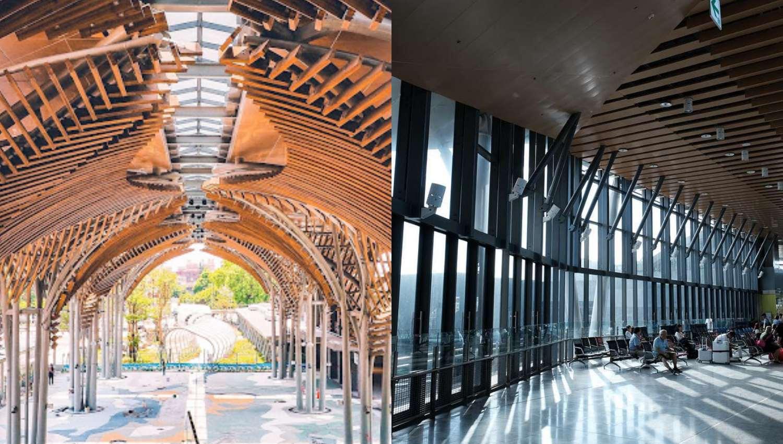 這真的是花蓮火車站?航廈等級10座超巨大迎賓傘、洄瀾鯨奇彩繪藝術太壯觀