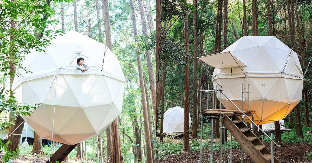 來去公園住一晚!日本靜岡「INN THE PARK」漂浮球型帳篷超吸睛,絕美露營區等你入住!