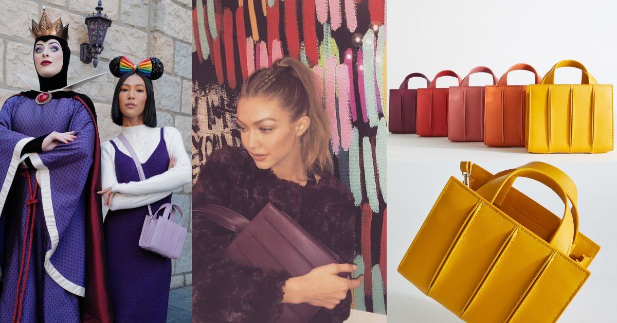 莫莉「粉紫包」被問爆!MaxMara這款包不靠Logo撐場,連超模Gigi Hadid都圈粉!