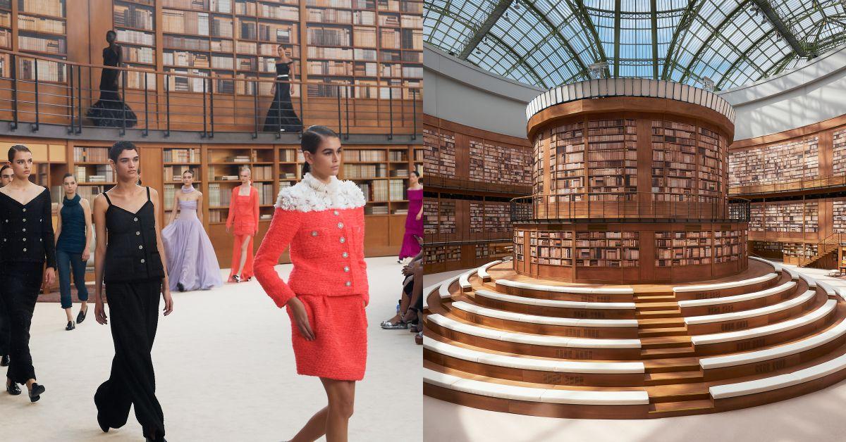 向老佛爺及香奈兒女士「愛書精神」致敬!Chanel高級訂製服大秀辦在圖書館裡
