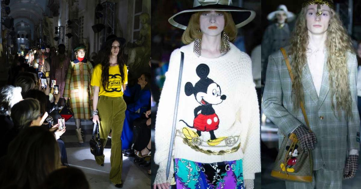 Gucci 2020 早春秀大停電?品牌用手電筒帶你玩「米奇在哪裡」!