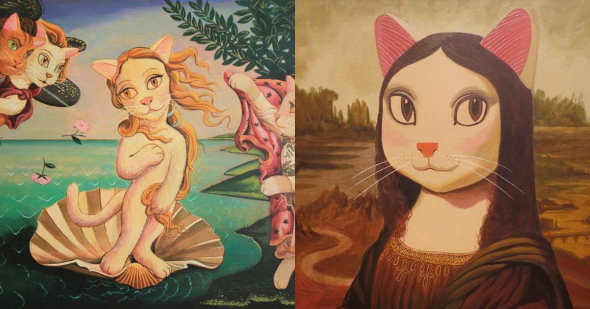 「蒙娜麗莎的微笑」、「拾穗」名畫主角變成貓?貓奴必去展覽在台登場