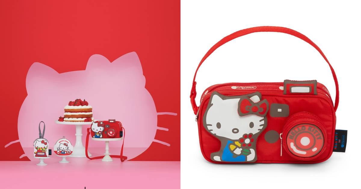 Hello Kitty x LeSportsac聯名少女準備瘋搶!相機包、收納袋、零錢包超可愛