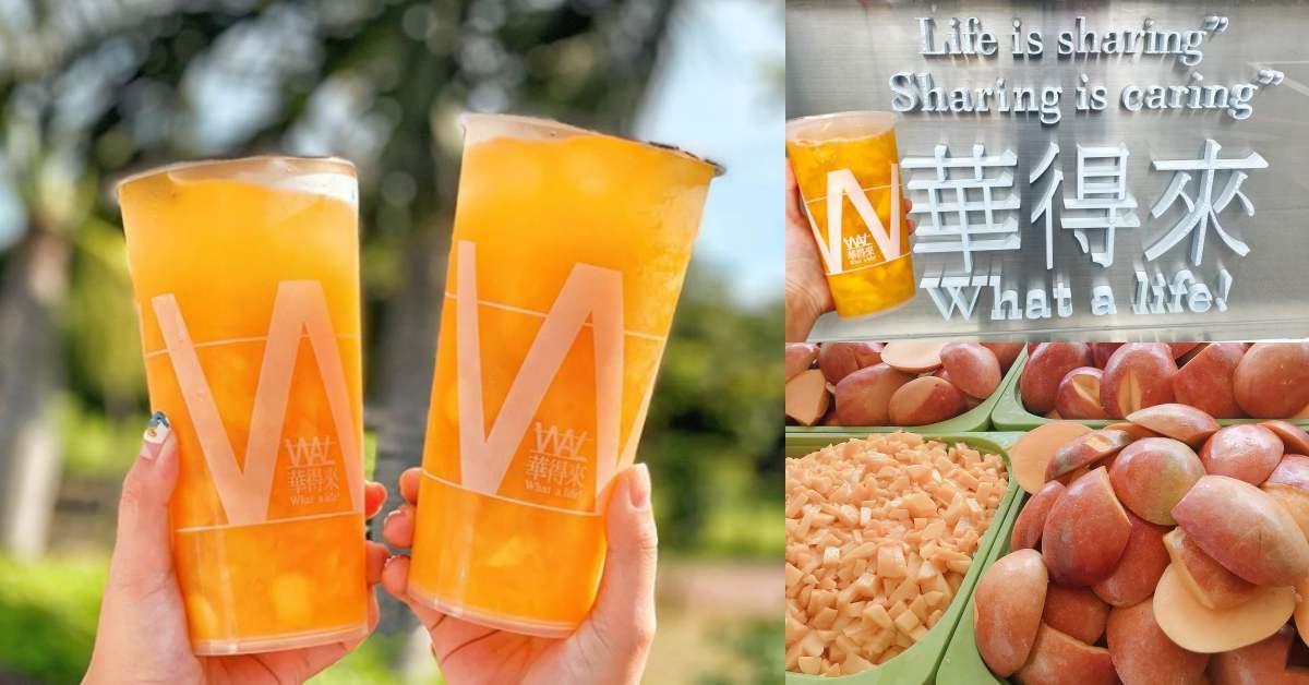 台中根本是手搖大王!《華得來》人氣天然飲品「芒果綠」超俗價格比買一顆芒果還划算!