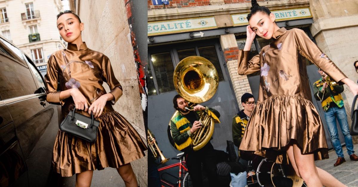 李函巴黎街頭一身夏姿超有型,溫昇豪化身時尚大「暖」男站台漢神開幕式