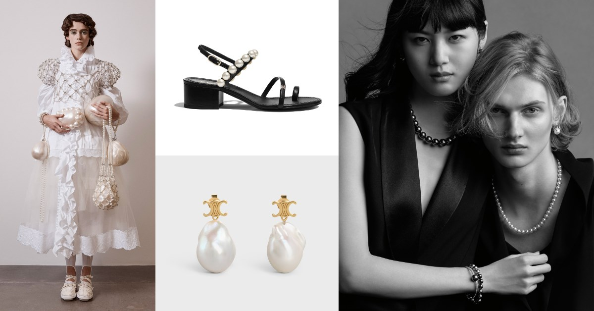 2021年春夏流行關鍵字是「珍珠光」,Chanel、Celine 、...6大品牌強推珍珠設計,H&M年度聯名上架就秒殺
