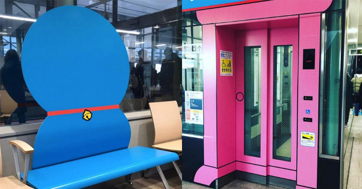 哆啦A夢迷快來!超可愛板凳、任意門電梯、鈴鐺站牌通通在「這裡」