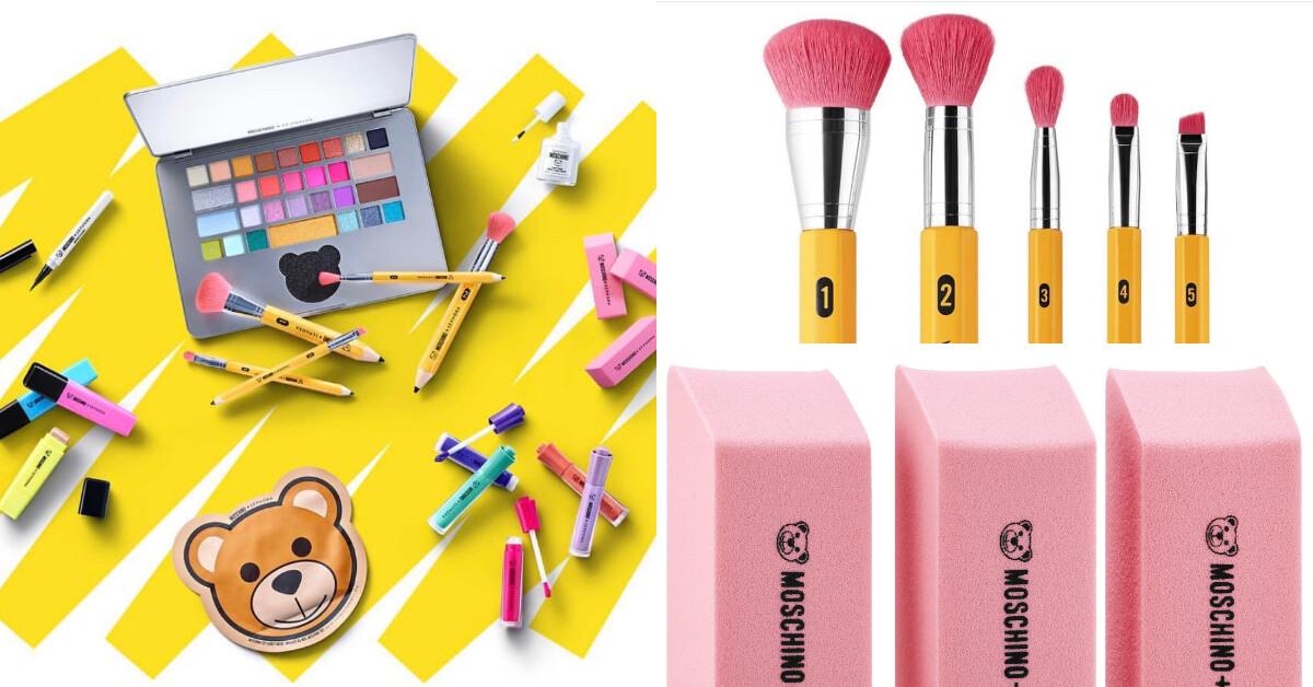 筆電竟是眼影?Moschino聯名Sephora把唇膏刷具變鉛筆擦布,童年回憶滿滿