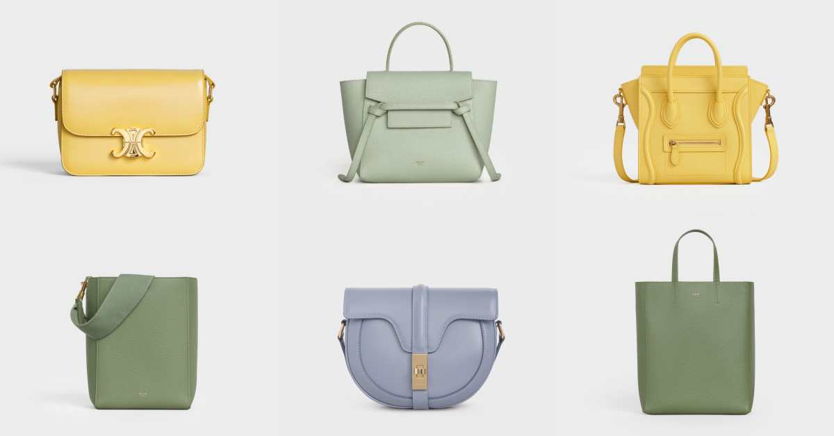 2020春夏Celine經典包通通換上繽紛夢幻色!嫩草綠、檸檬黃到粉霧籃配色真的好迷人