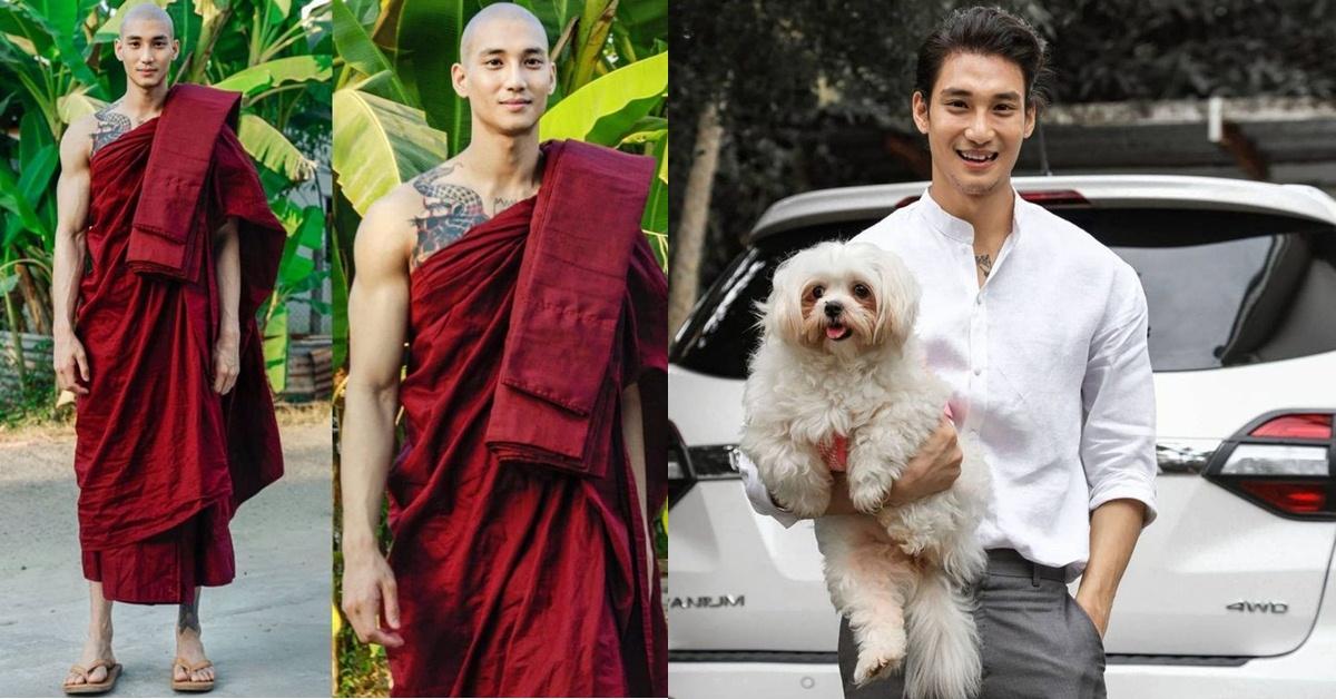 史上最帥的和尚!緬甸男模Paing Takhon!又很愛護小動物,這樣的天菜哪裡找?
