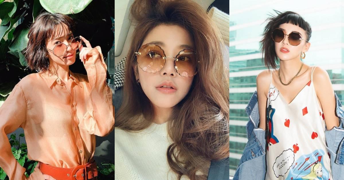 陳庭妮、許路兒到潮模李函小臉就靠這一招!多邊形、花朵圖案墨鏡真的超時尚!