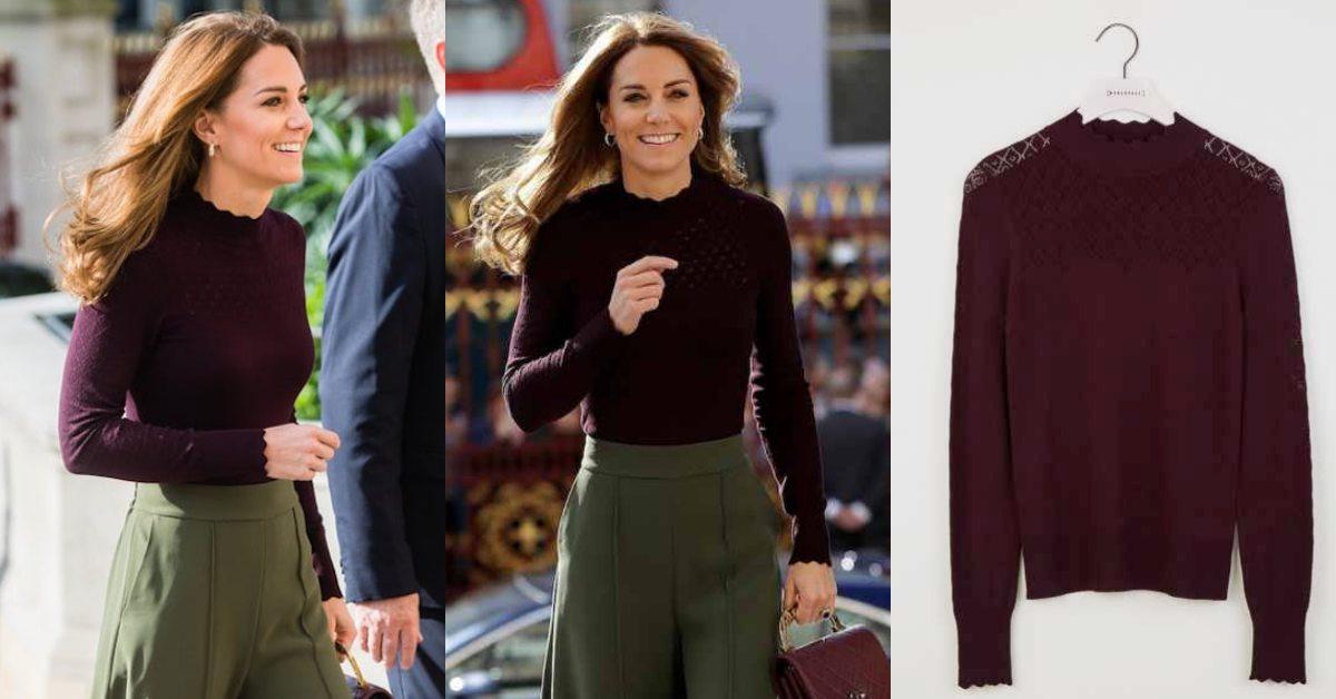 小資女必學!凱特王妃再度用平價毛衣示範時髦穿搭,1500台幣就能跟上皇室流行