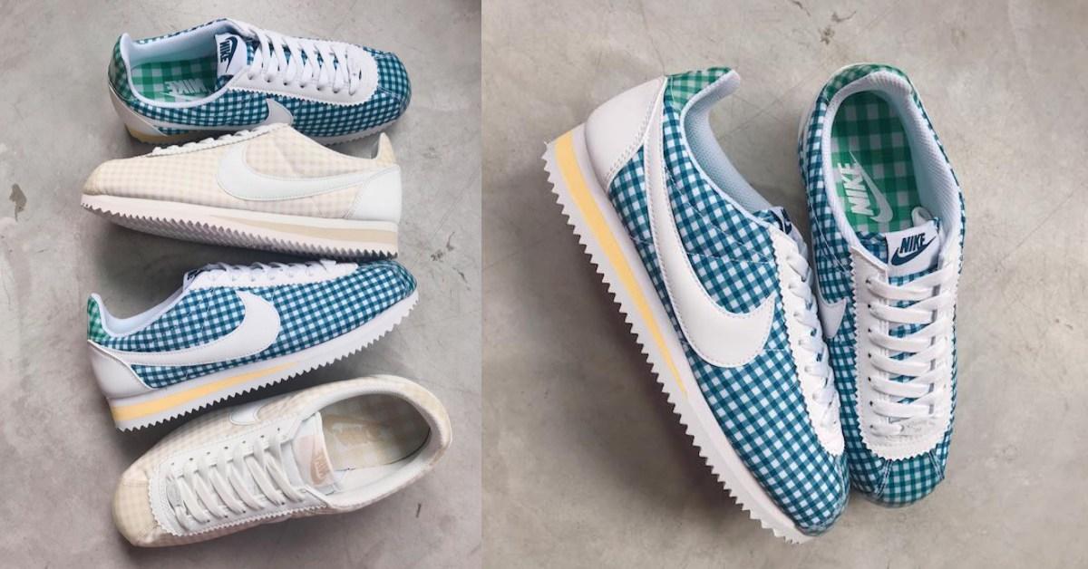 專為田園少女設計的!Nike湛藍、奶茶色格紋阿甘鞋,連鞋帶頭都獨具巧思