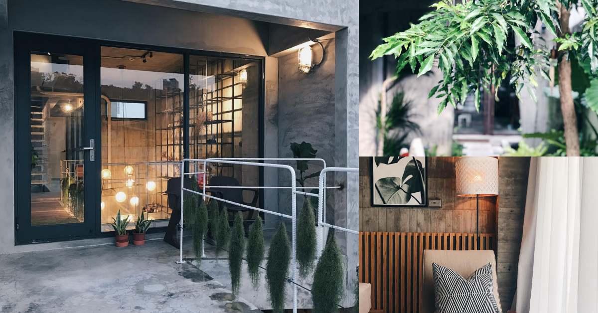 小琉球秘境旅館「七分 Seventh Living」清水模工業風,每一寸綠意都像被設計過!