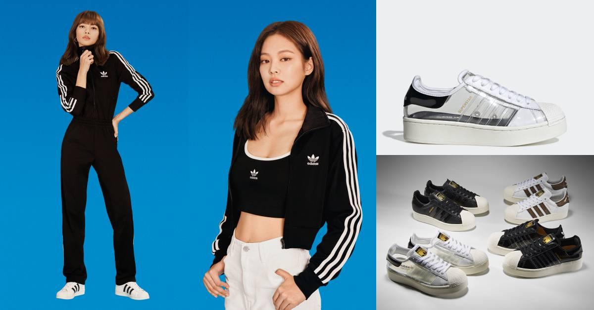 BLACKPINK團員瘋買的小白鞋是它!Adidas推出經典鞋全透明款,讓妳換雙襪子像換雙鞋