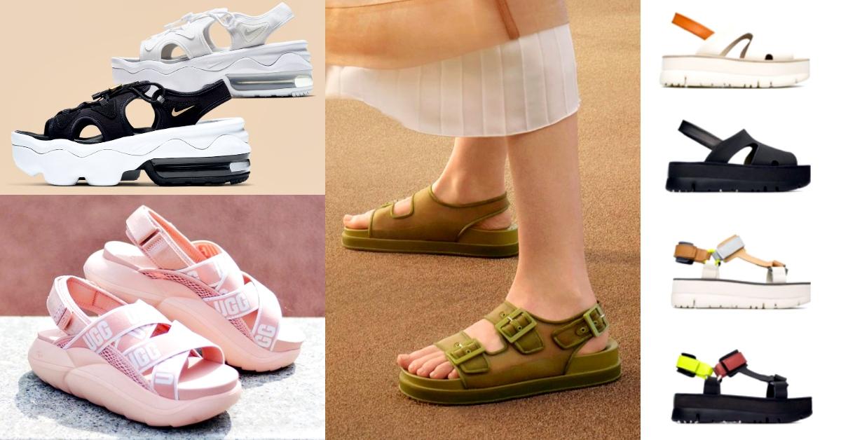 2020春夏5款「運動涼鞋」推薦!厚底增高不磨腳、字母印花繼續買,粉紅、軍綠夯到爆!