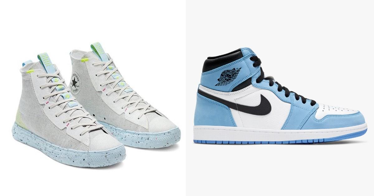 2021球鞋推薦「天空藍」Top 8!Air Jordan 1經典百搭、Fila潮妹最愛夢...Converse把垃圾變黃金!