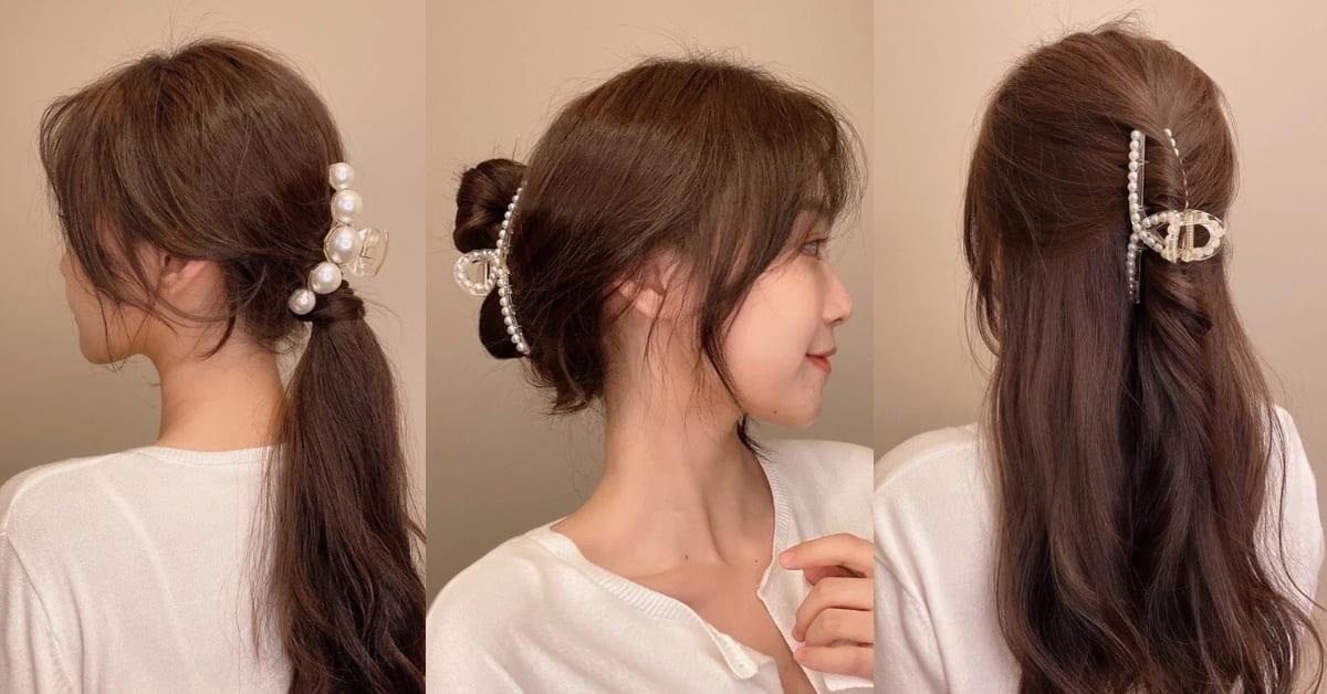在家工作髮型必備「鯊魚夾」!4招懶人造型推薦,韓國歐膩這樣夾不顯老