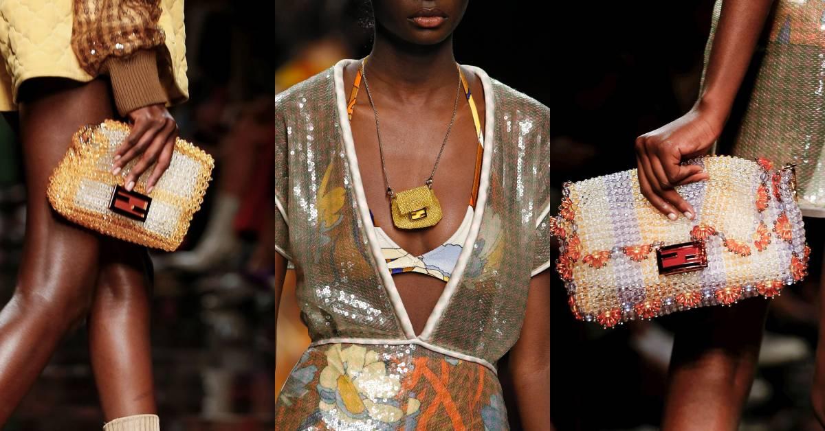 Fendi用老奶奶串珠包登上米蘭時裝週!2020年的IT Bag就是Baguette新款「串珠包」?