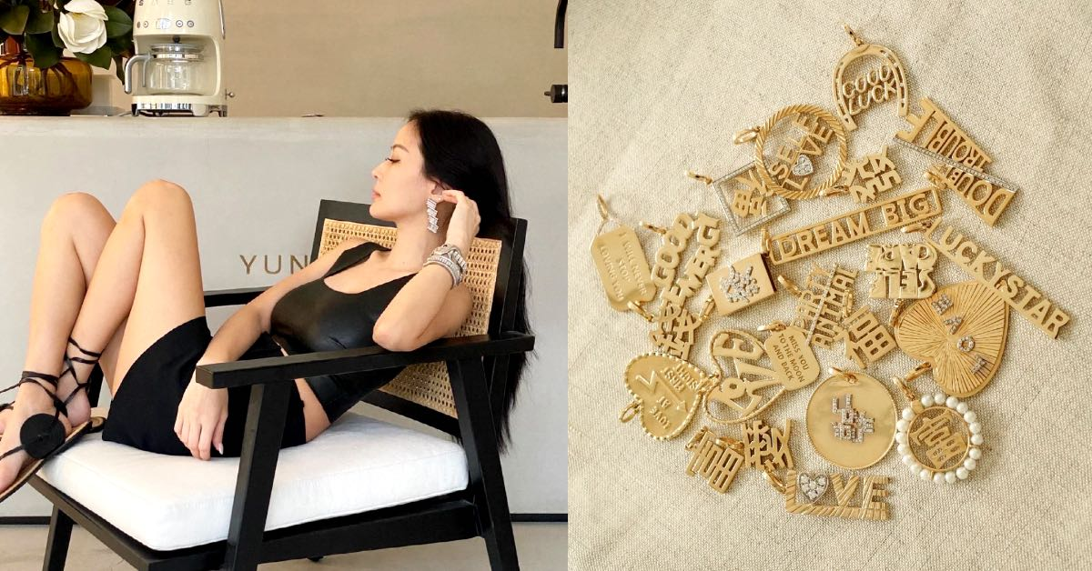 孫芸芸個人品牌飾品5大趨勢!中英文字母設計很流行,女孩小腿上的細腳鍊是吸睛重點