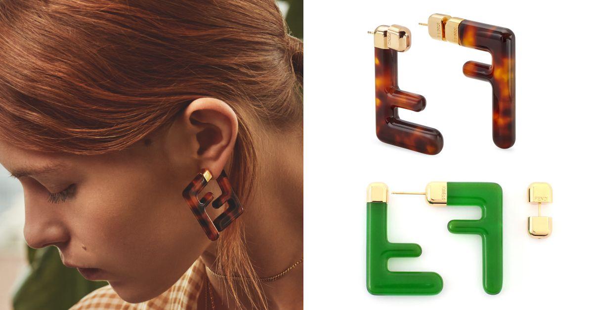 Fendi老花變成時髦耳環!一個款式兩種戴法,跟上Logo風潮的設計真的太美了!