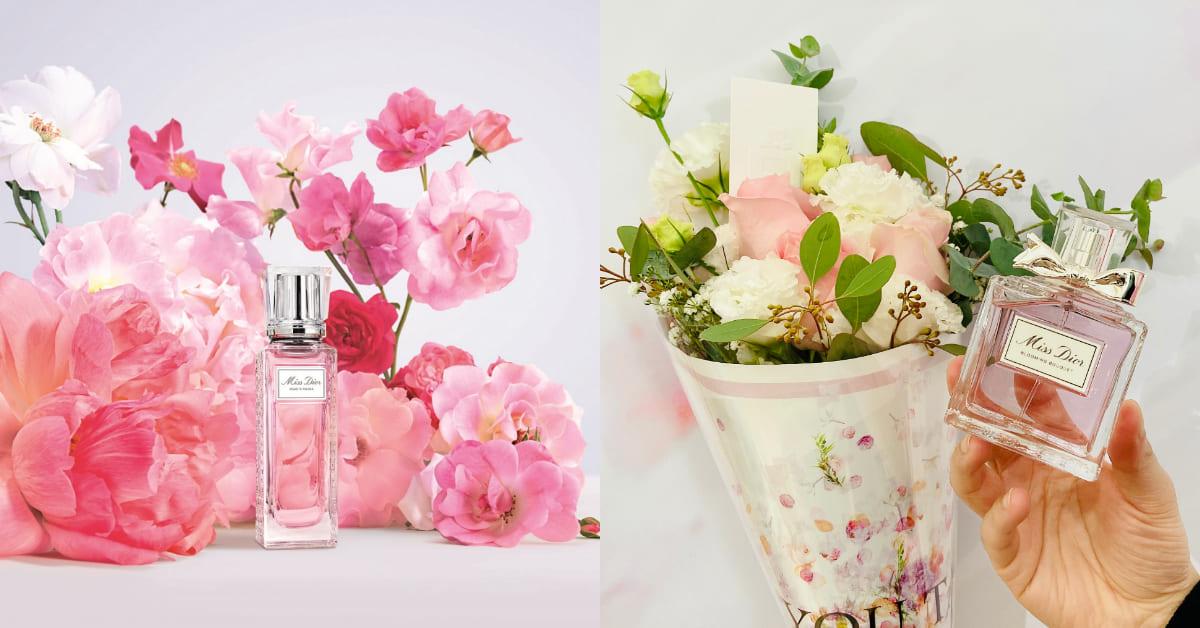 Dior香水推薦這款!Miss Dior親吻淡香水滾珠瓶登場,情人節首選再加碼限定花束