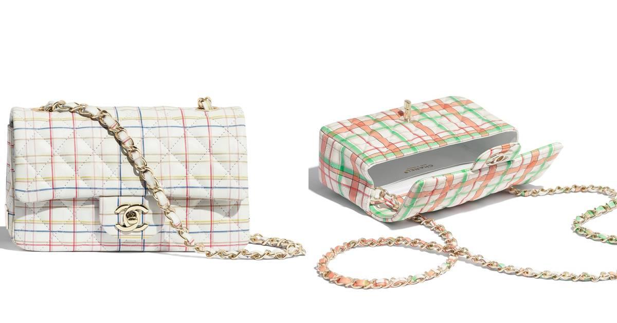 Chanel也能很可愛!經典包款換上粉嫩格紋新裝,背上逆齡成大學生